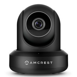 Amcrest monitoring camera on white background