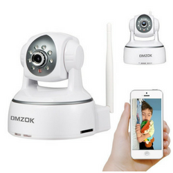 DMZOK wireless monitoring camera on white background