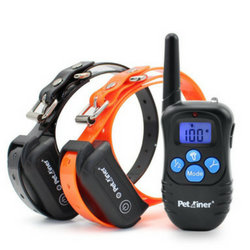 Petrainer e-collar for training dogs