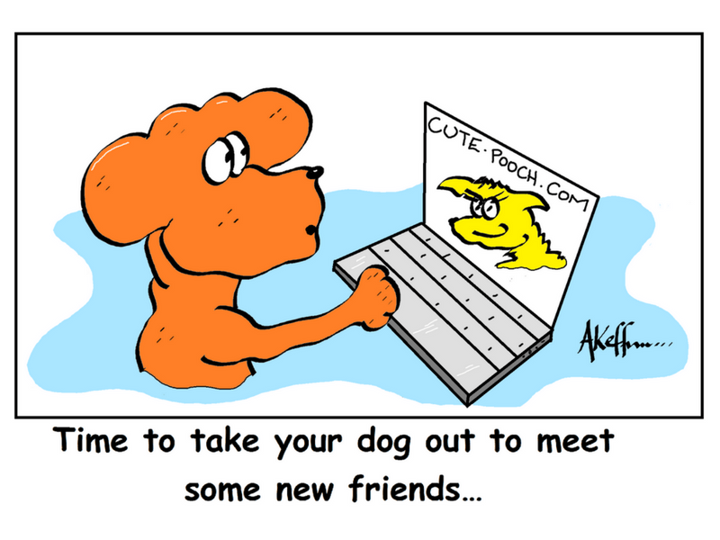 Dog Socialization Cartoon