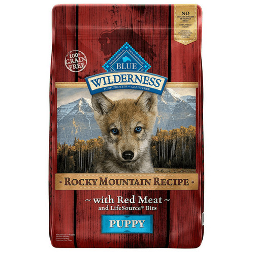 22 Pound Bag Of Blue Buffalo Wilderness Rocky Mountain Recipe Dry Puppy Food