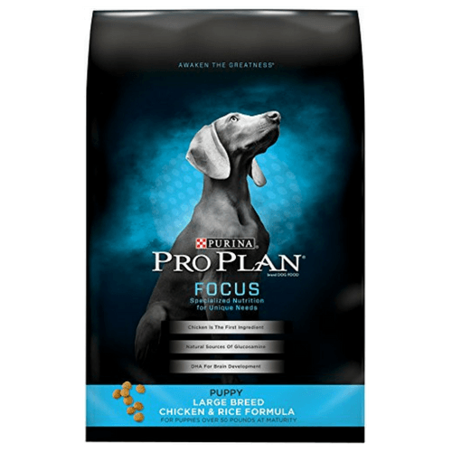 34 Pound Bag Of Purina Pro Plan Focus Puppy Large Breed Dry Dog Food