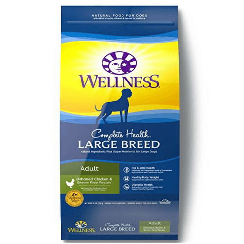 30 Pound Bag Of Wellness Complete Health Natural Dry Large Breed Dog Food