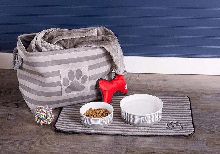 DII Bone Dry Dog Toy Basket