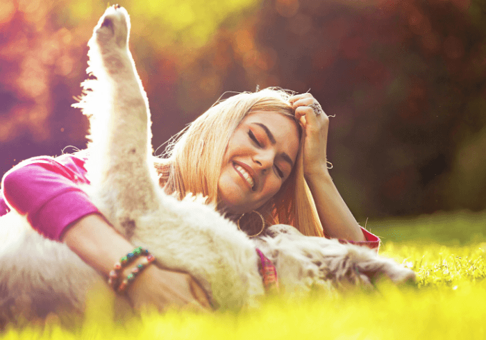 Young Woman Enjoying Some Time With Her Pup