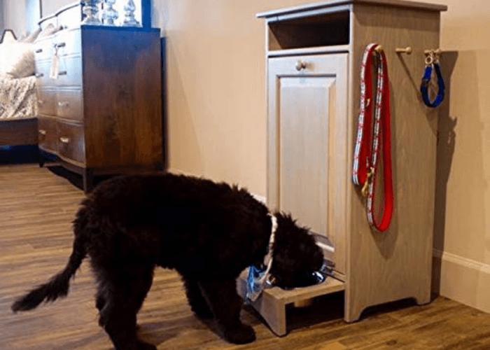 Solid Pine Pet Feeder Station