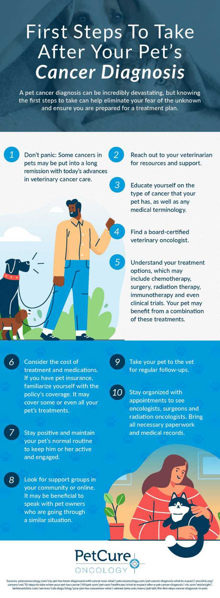 Steps to take for pet cancer Infographic